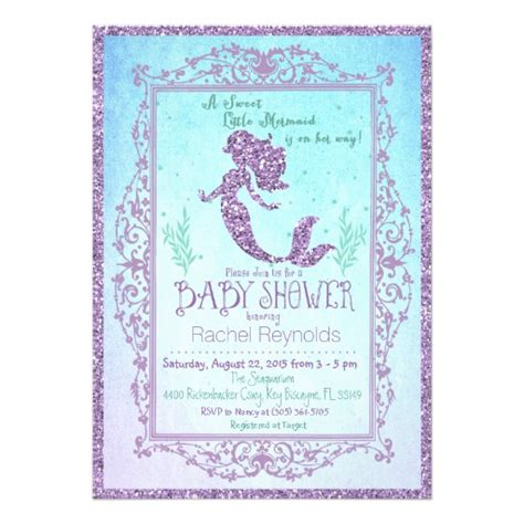 Mermaid Baby Shower Invites by Mermaid Baby Shower Invitation Zazzle