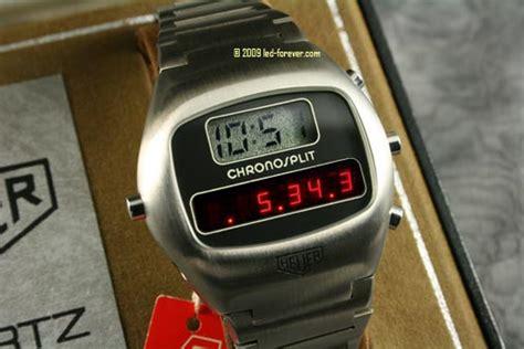The Heuer Chronosplit LED digital watches