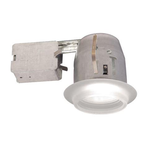 Halogen Recessed Light Fixtures Bazz 100 Series 4 In White Recessed Halogen Light Fixture