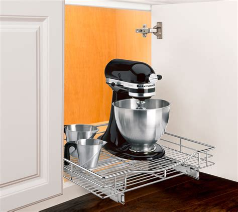 chrome roll out cabinet organizer 20 inch in pull