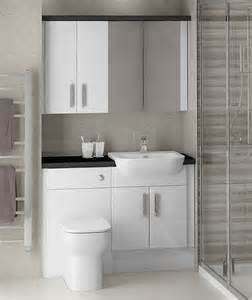 white gloss bathrooms fitted furniture from mallard
