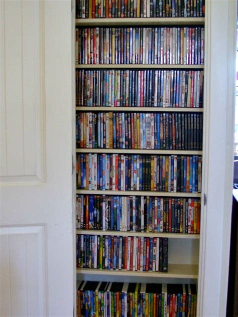 Closet Dvd top organizing family room tour dvd storage and