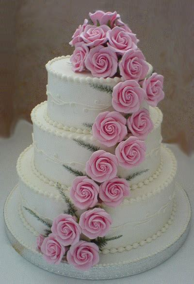 Wedding Cakes Roses by Wedding Cakes Pictures Pink Sugar Roses Wedding Cakes