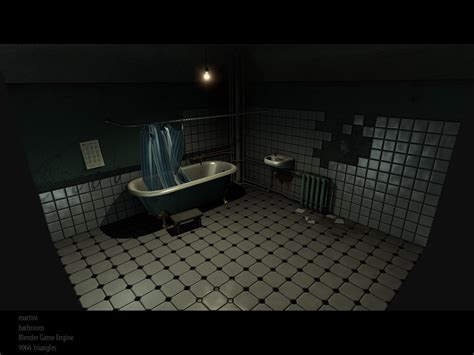 the bathtub game bathroom demo blender game engine blendernation