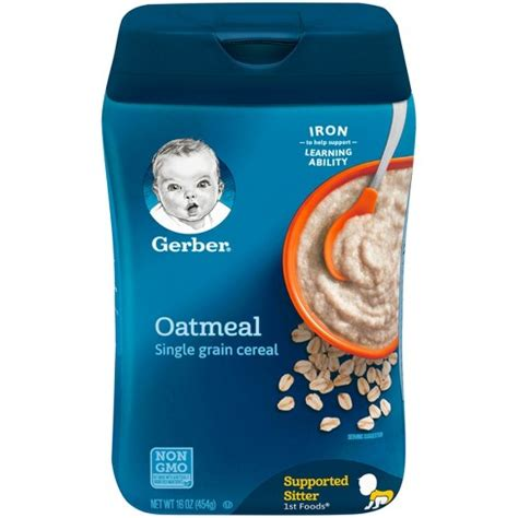 Gerber Rice Cereal Oatmeal Cereal gerber single grain oatmeal baby cereal 16oz target