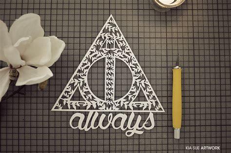 always harry potter papercut by kiasuee on deviantart