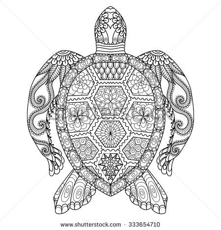 tribal turtle coloring page tribal sea symbol turtle stock images royalty free images