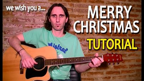 play     merry christmas  acoustic guitar video tab tutorial lesson tcdg