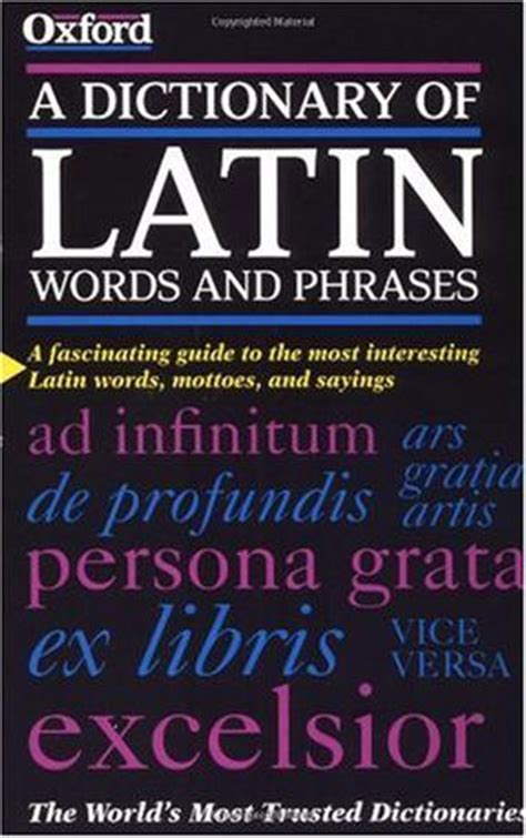 a dictionary of latin words and phrases 豆瓣