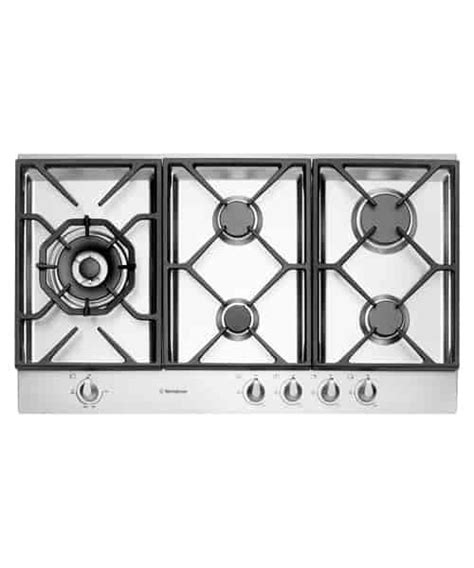 westinghouse 90cm gas cooktop westinghouse 90cm stainless steel gas cooktop whg956sb