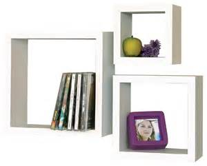 wall cube shelves white cube 3 shelf set white contemporary