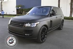 matte black range rover car wrap wrap bullys