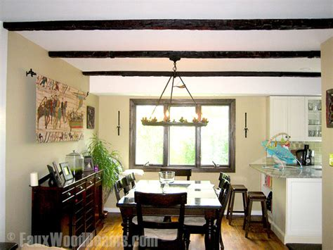 wooden beam ceiling for contemporary dining room ideas faux wood beam ceiling designs traditional dining room
