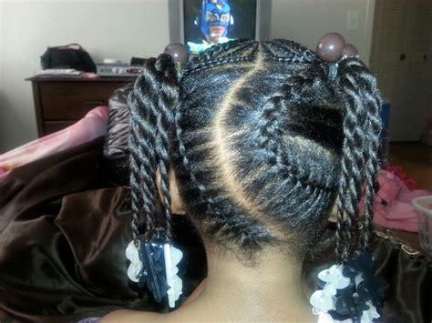 under braids under braids w ponytail