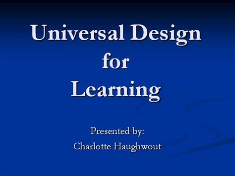 Universal Design For Learning Powerpoint Presentation | universal design for learning authorstream