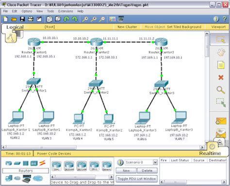 membuat vpn packet tracer membuat routing static dengan vlan cisco packet tracer