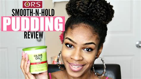 natural hairstyles for black hair using hair pudding ors olive oil smooth n hold pudding on natural hair review