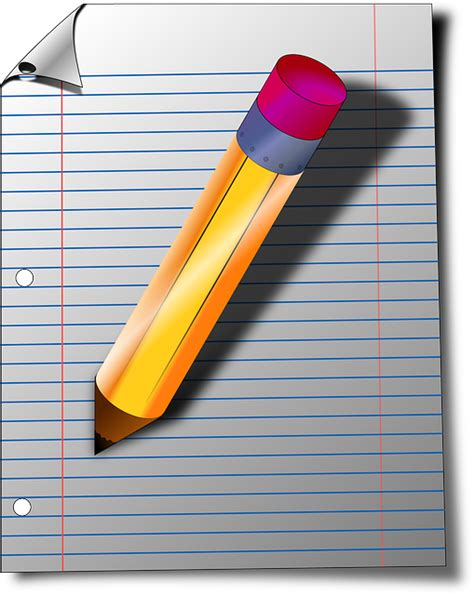 armed with a pad of paper and pencil she began to survey her neighbors free vector graphic memo note notepad office paper