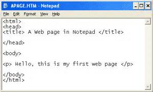 Design Html Website Using Notepad | teach ict gcse ict web design