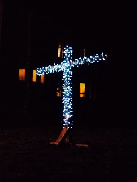 outdoor lighted cross lighted yard cross by sameasnever on etsy