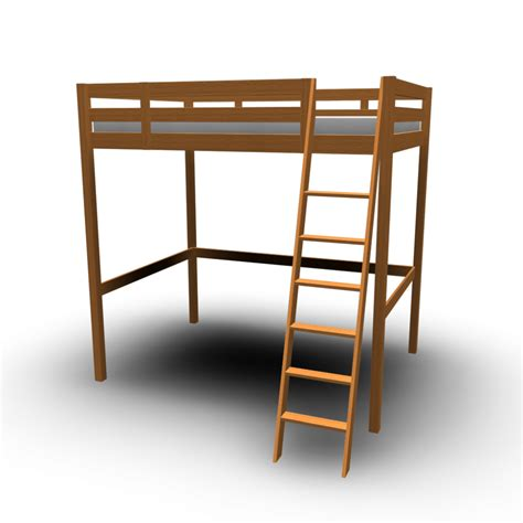 lofted bed frame stor 197 loft bed frame design and decorate your room in 3d