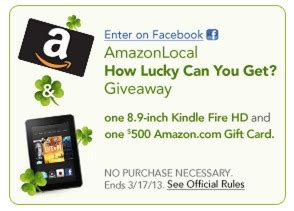 Amazon Kindle Fire Apps Gift Card - enter to win a kindle fire hd and a 500 amazon gift card