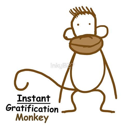 Monkey Wall Stickers quot instant gratification monkey quot stickers by inkyb27 redbubble