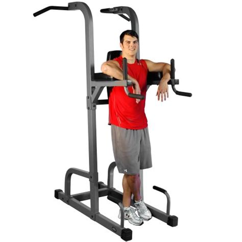 dip bench station xmark vkr vertical knee raise with dip and pull up station power tower xm 7617