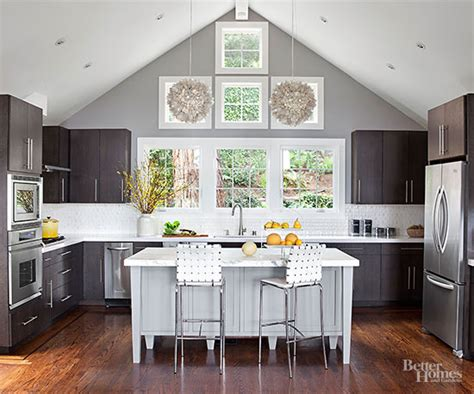 2018 kitchen gray white open floor plan