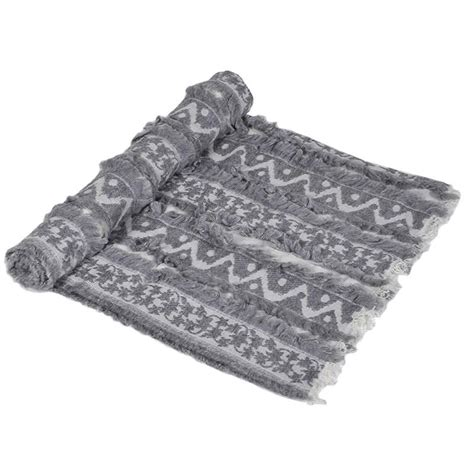 grey patterned throws large fluffy grey faux fur patterned throw mulberry moon