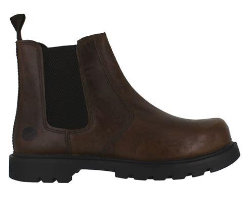 oaktrak rocksley mens brown leather dealer pull on chelsea