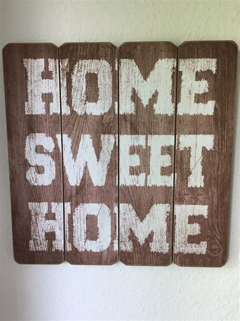 Home Sweet Home Decorations by Brown Wooden Home Sweet Home Printed Wall Decor Free Image