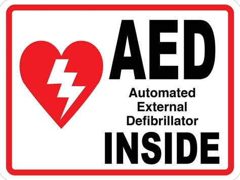 aed wall sign creative safety supply