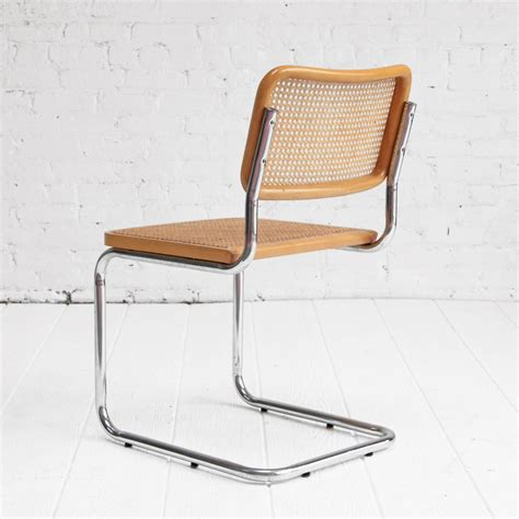 Marcel Breuer 'Cesca' Chairs Chrome and Cane Dining Chairs