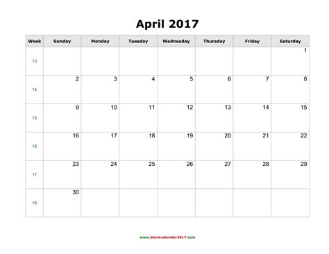 printable calendar april 2017 april 2017 calendar printable with holidays weekly