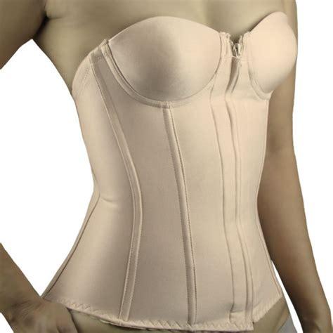 strapless longline bra torso corset bustier