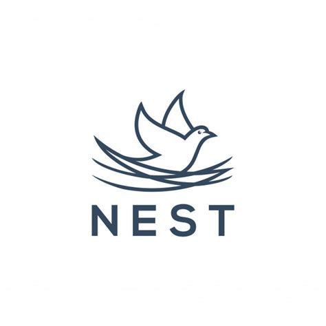 nest logo concept bird icon for logo design vector