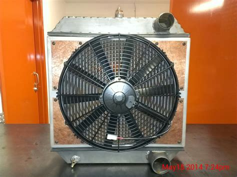 electric fans for rods custom built radiator and copper inlaid electric fan