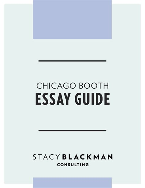 Booth Mba Photo Essay by Chicago Booth Mba Essay Guide Blackman Consulting