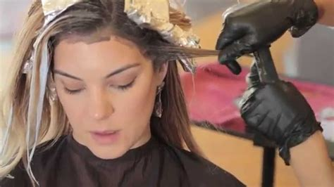 doing low lights on gray hair balayage with two colors lowlights and balayage in
