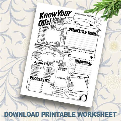 printable essential oil journal printable essential oil coloring worksheet