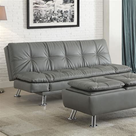 futon living room sets dilleston futon style living room set from coaster 500096