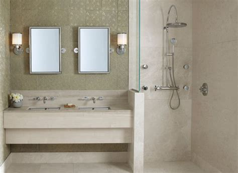 head bathroom doorless shower designs teach you how to go with the flow