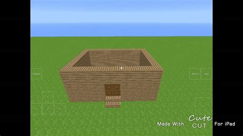 lite house minecraft pe lite and exploration lite simple house tutorial youtube