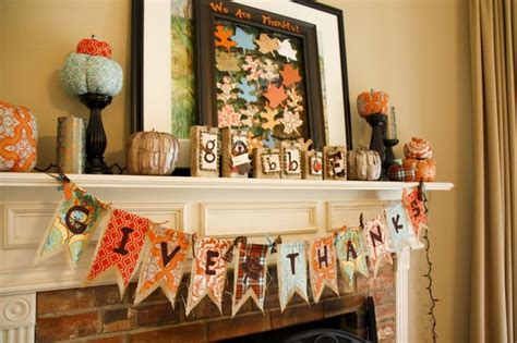 thanksgiving home decorations ideas 40 brilliant mantel decoration ideas for thanksgiving sortra