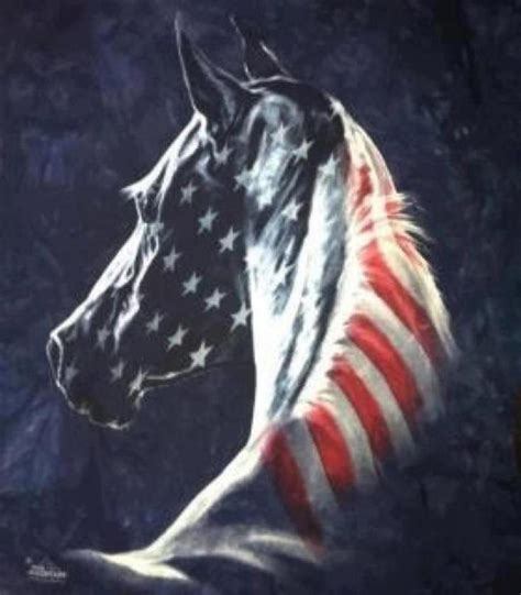 Painted Horses Horses And American Flag On Pinterest White And Blue Patriotic