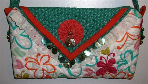 handmade quilted beaded purse handbag original design by