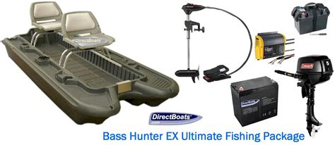 bass hunter boats accessories bass hunter ex ultimate fishing package