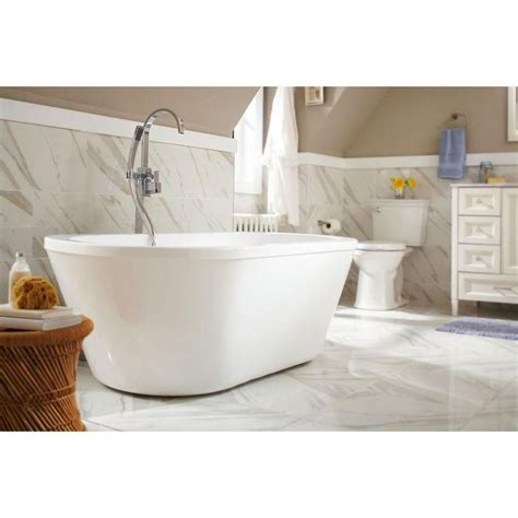 Schon Bathtubs by Schon Colton 5 25 Ft Center Drain Freestanding Bathtub In