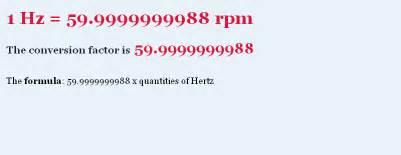 conversion de hertz hertz to rpm conversion chart